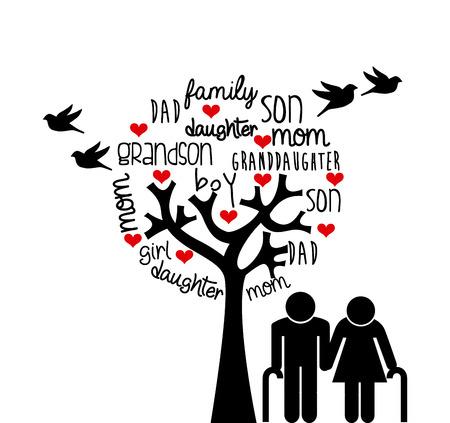 Illustration pour family love design, vector illustration eps10 graphic - image libre de droit