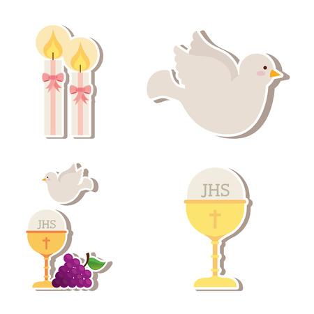 Ilustración de cute angels design, vector illustration graphic - Imagen libre de derechos