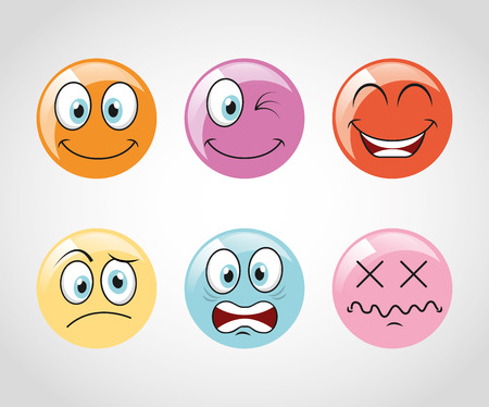 emoticons icons design, vector illustration graphic