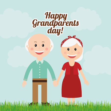 Illustration for grandparents day design, vector illustration eps10 graphic - Royalty Free Image