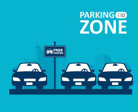 Illustration pour Parking design over blue background, vector illustration. - image libre de droit