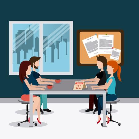 Ilustración de Office design over office scene background, vector illustration. - Imagen libre de derechos