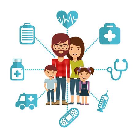 Ilustración de family concept design, vector illustration  - Imagen libre de derechos