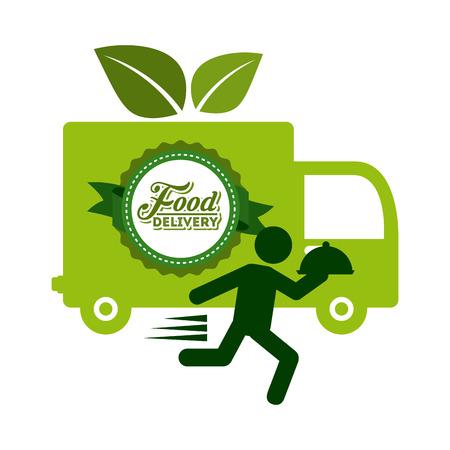 Ilustración de food delivery design, vector illustration   - Imagen libre de derechos
