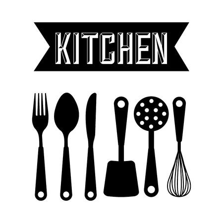 Illustration pour kitchen tools design, vector illustration  - image libre de droit