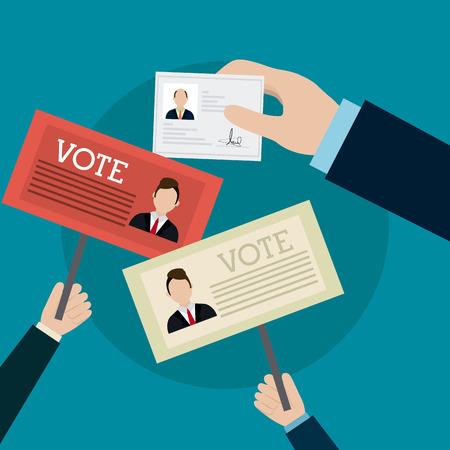Illustration pour Vote design over white background, vector illustration. - image libre de droit