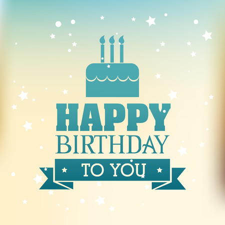 Ilustración de Happy birthday colorful card design, vector illustration. - Imagen libre de derechos