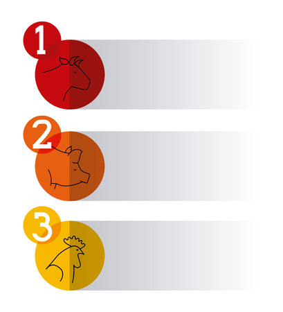 butcher concept design, vector illustration