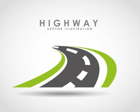Illustration for highway road  design, vector illustration  - Royalty Free Image