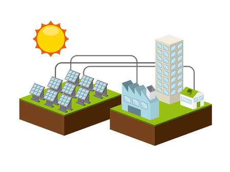 Ilustración de solar energy design, vector illustration - Imagen libre de derechos