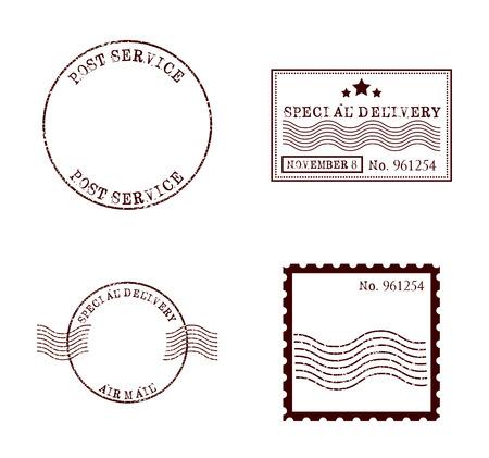 Illustration pour stamp mail design, vector illustration  - image libre de droit