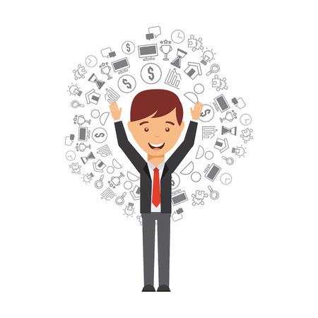 Illustration pour business people design, vector illustration eps10 graphic - image libre de droit