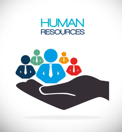 Photo pour Human resources design, vector illustration eps 10. - image libre de droit