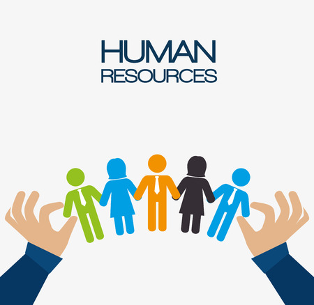 Illustration pour Human resources design, vector illustration eps 10. - image libre de droit