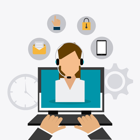 Illustration pour Customer service design, vector illustration eps 10. - image libre de droit