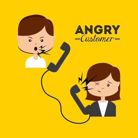 Illustrazione per angry customer design, vector illustration eps10 graphic - Immagini Royalty Free