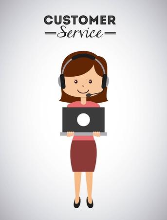 Ilustración de customer service design, vector illustration eps10 graphic - Imagen libre de derechos
