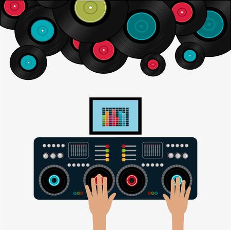 Illustration pour Music digital design, vector illustration eps 10. - image libre de droit