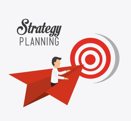 Illustration pour Business strategy design, vector illustration eps 10. - image libre de droit