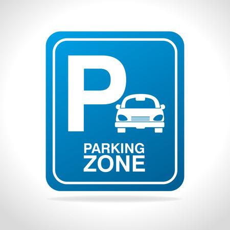 Ilustración de Parking zone design, vector illustration eps 10. - Imagen libre de derechos