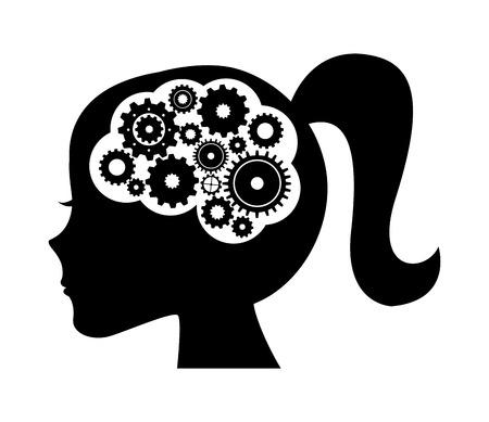 Ilustración de think concept design - Imagen libre de derechos