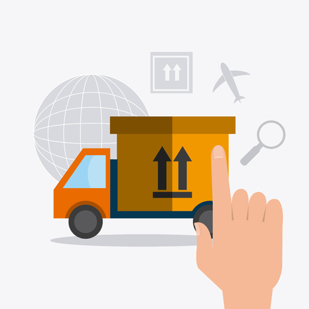 Delivery, transport and logistics business, vector illustration