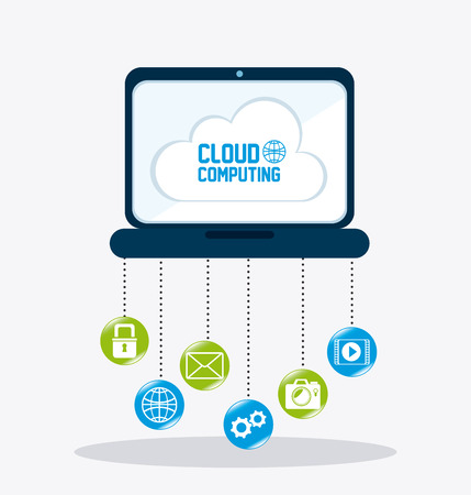 Cloud computing design, vector illustration eps 10.