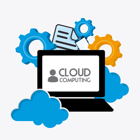Cloud computing design, vector illustration eps 10.