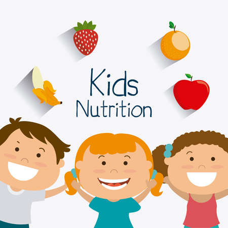 Illustration pour Kids nutrition design, vector illustration eps 10. - image libre de droit