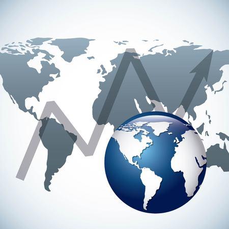 global economy design, vector illustration eps10 graphic