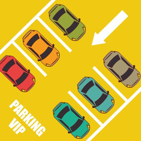 Illustration pour Parking or park zone design, vector illustration. - image libre de droit
