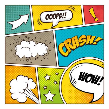 Illustration pour Pop art comic bubbles design, vector illustration - image libre de droit