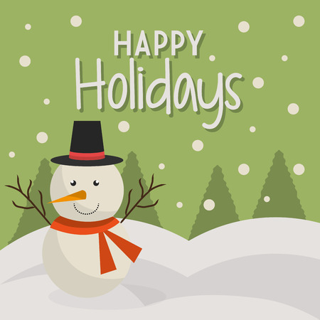 Illustration for Happy holidays christmas season design, vector graphic. - Royalty Free Image