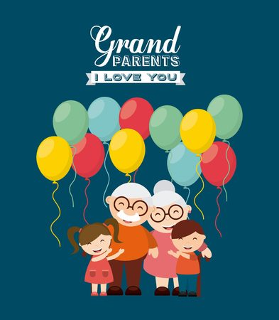 Illustration for happy grandparents day design, vector illustration eps10 graphic - Royalty Free Image