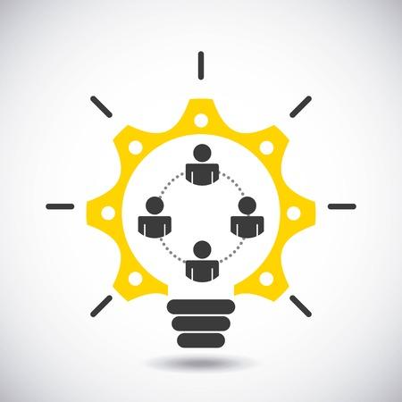 Ilustración de collaborative people design, vector illustration eps10 graphic - Imagen libre de derechos