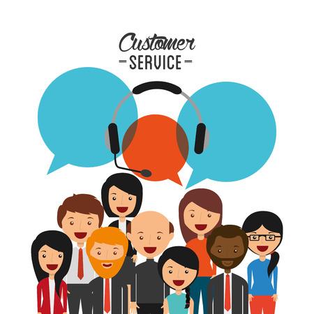 Illustration pour customer service design, vector illustration eps10 graphic - image libre de droit