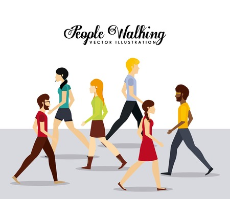 Illustration pour people walking design, vector illustration eps10 graphic - image libre de droit