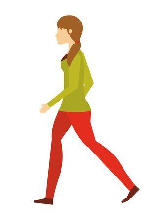 Ilustración de people walking design, vector illustration eps10 graphic - Imagen libre de derechos