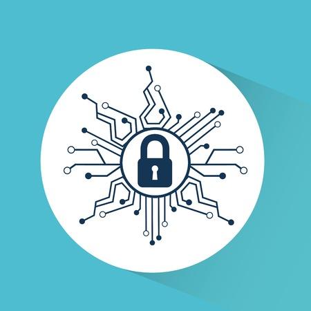 Illustration pour cyber security design, vector illustration  graphic - image libre de droit
