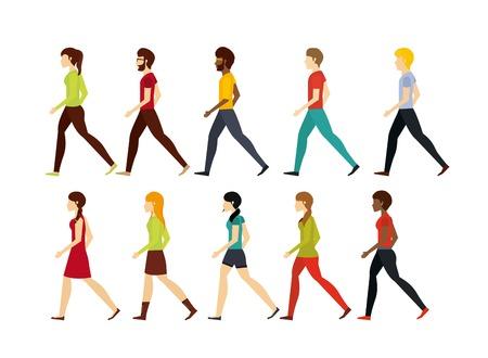 Ilustración de people walking design, vector illustration  - Imagen libre de derechos