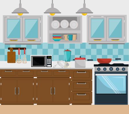 Illustration pour Kitchen and dishware graphic design, vector illustration eps10 - image libre de droit