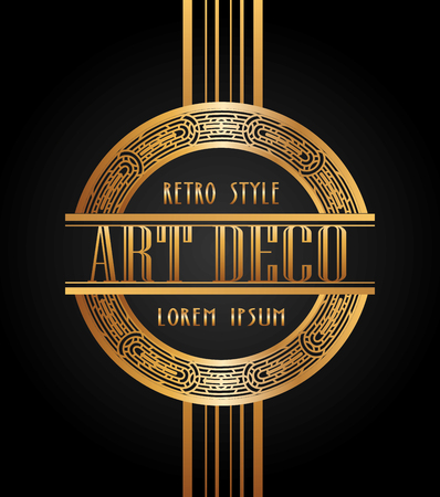 Illustration for art deco element design, vector illustration eps10 graphic - Royalty Free Image