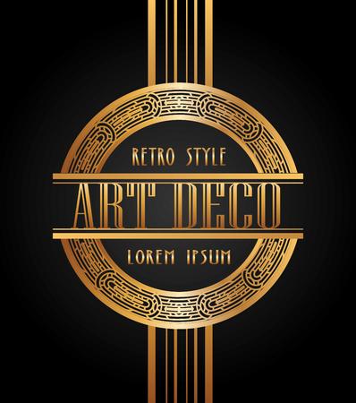 Ilustración de art deco element design, vector illustration eps10 graphic - Imagen libre de derechos