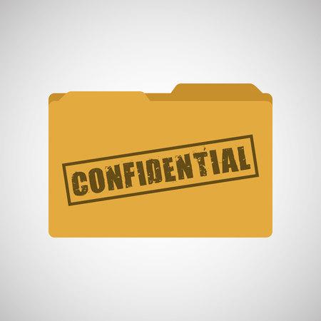Ilustración de confidential folder design, vector illustration eps10 graphic - Imagen libre de derechos