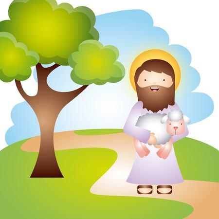 Ilustración de catholic religion design, vector illustration eps10 graphic - Imagen libre de derechos