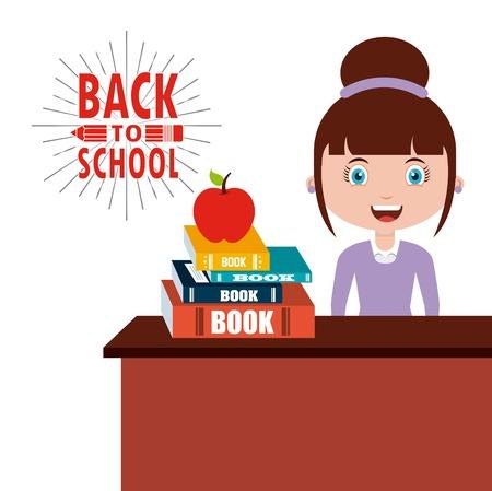 Ilustración de back to school design, vector illustration eps10 graphic - Imagen libre de derechos
