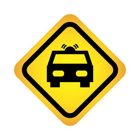 Illustration pour police patrol traffic signal  isolated icon  design, vector illustration eps10 graphic - image libre de droit