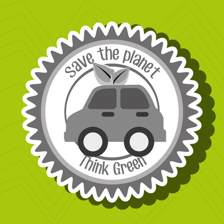 Illustration pour think green isolated icon design, vector illustration  graphic - image libre de droit