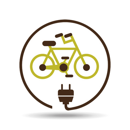 Illustration pour save energy icon, green bike, vector illustration - image libre de droit