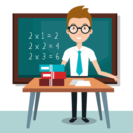 Illustration pour teacher school classroom icon vector illustration design - image libre de droit